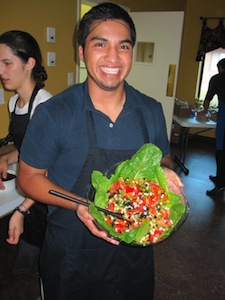 Salad for cooking school